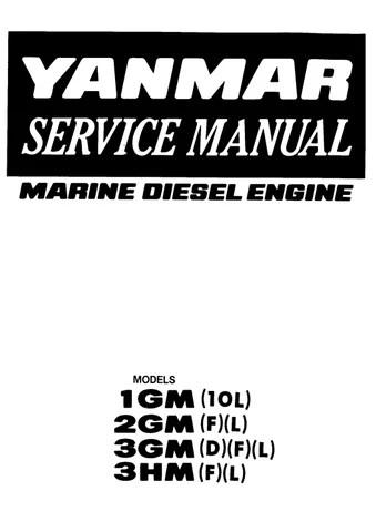 Yanmar 3GMD Marine Diesel Engine Service Repair Manual by