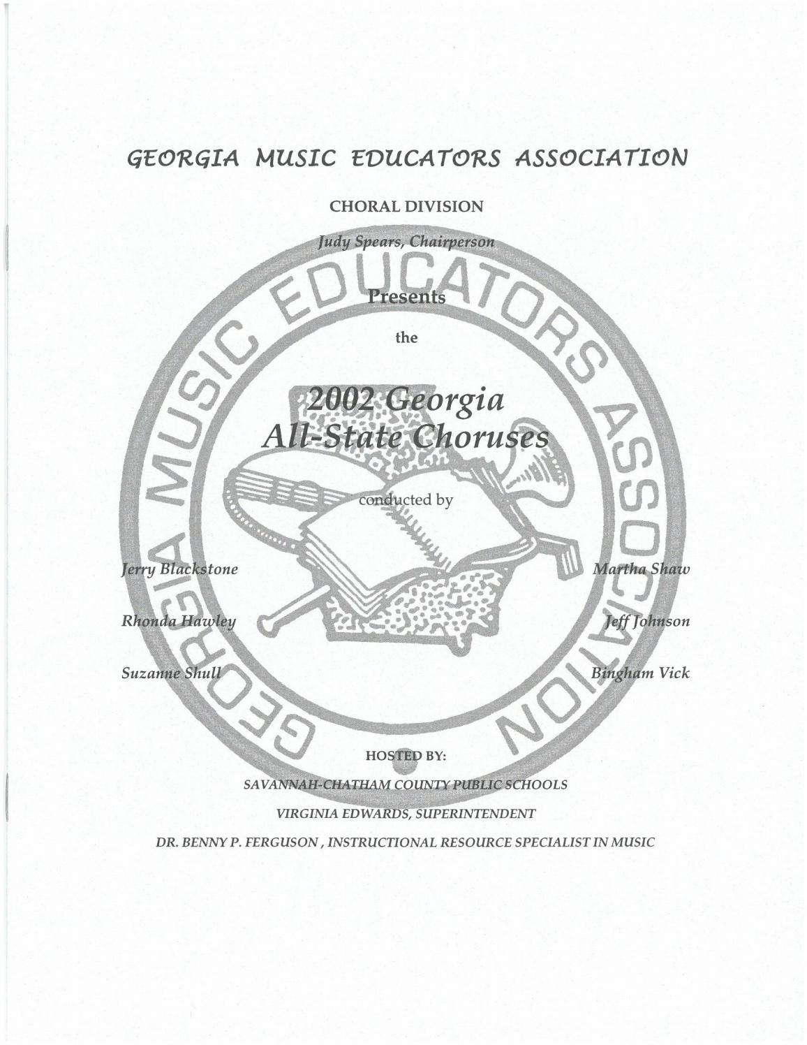 2002 GMEA All-State Chorus Program by Georgia Music