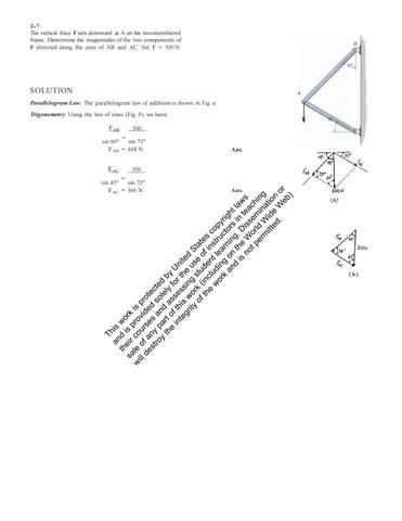Solutions Manual for Engineering Mechanics Statics 13th