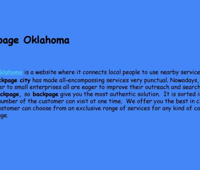 Alternative To Backpage Site Similar To Backpage Sites Like Backpage Backpage Oklahoma