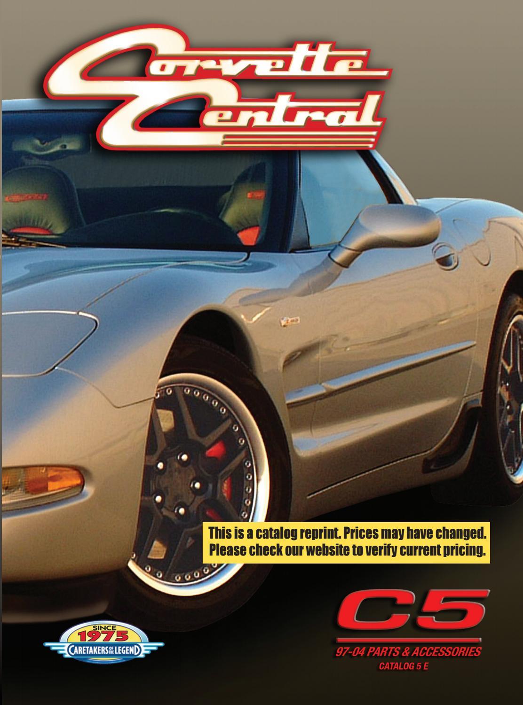 hight resolution of corvette central c5 97 04 corvette parts catalog by corvette central issuu