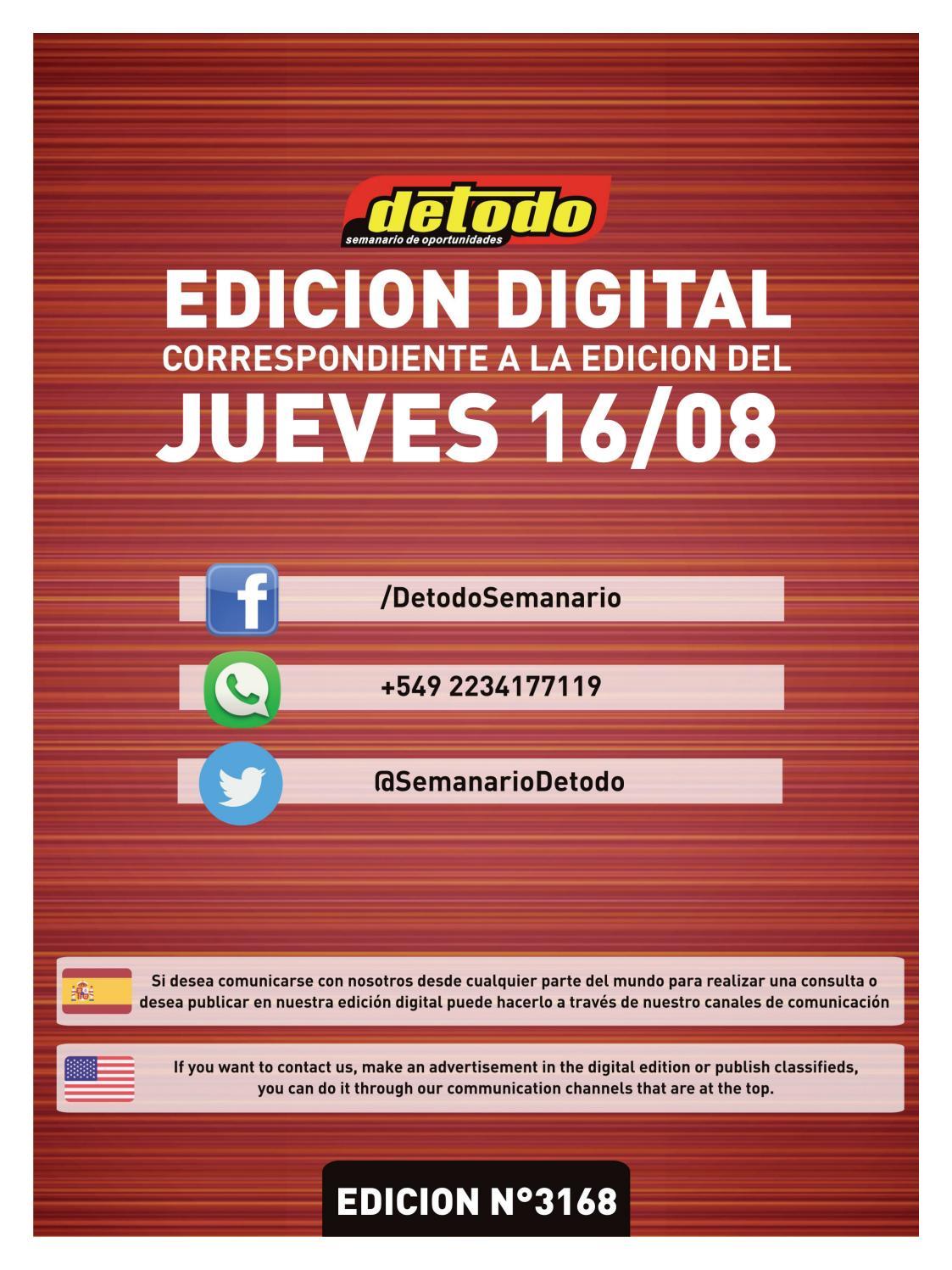 Semanario Detodo  Edicin N 3168  16082018 by Semanario Detodo  Issuu
