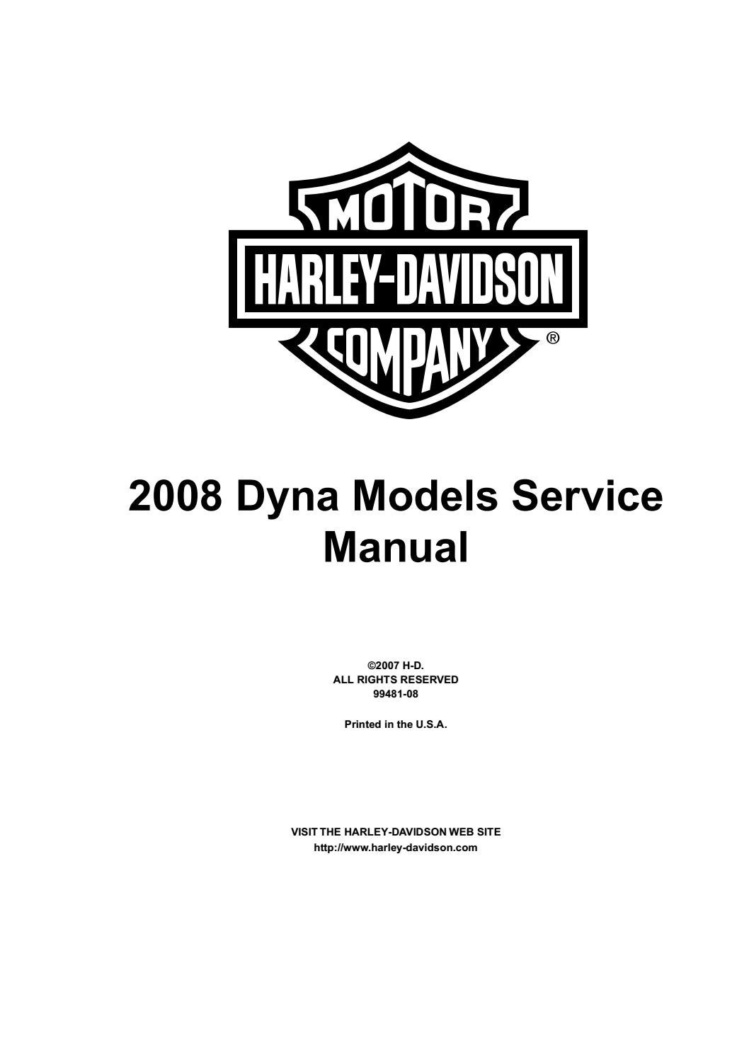 2008 Harley-Davidson FXDSE2 Screamin Eagle Dyna Service