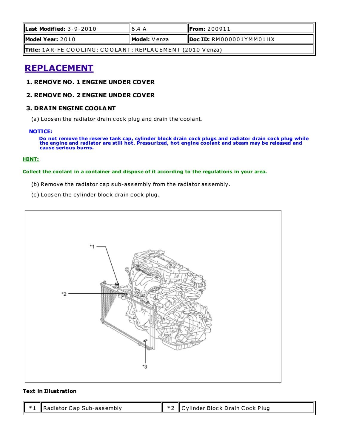 hight resolution of 2011 toyota venza service repair manual