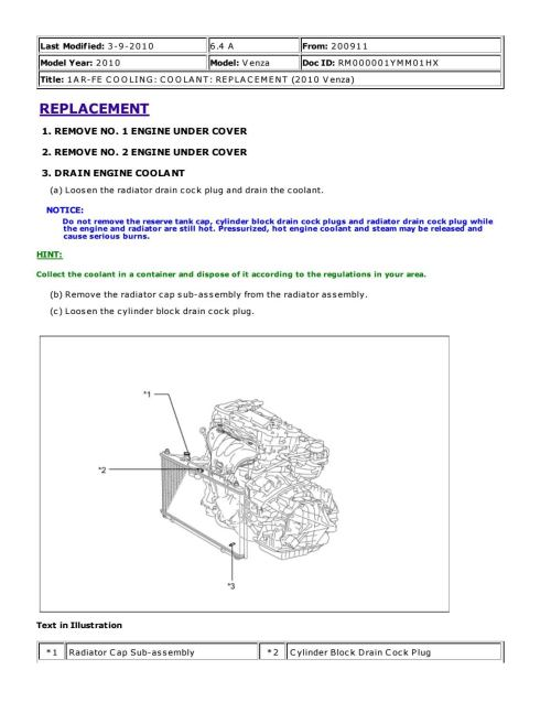 small resolution of 2011 toyota venza service repair manual