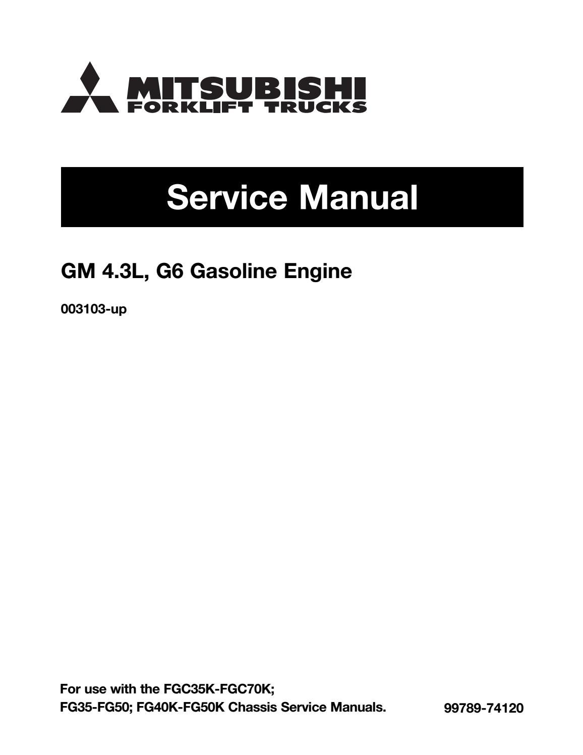 hight resolution of mitsubishi fgc70k forklift trucks engine service repair manual