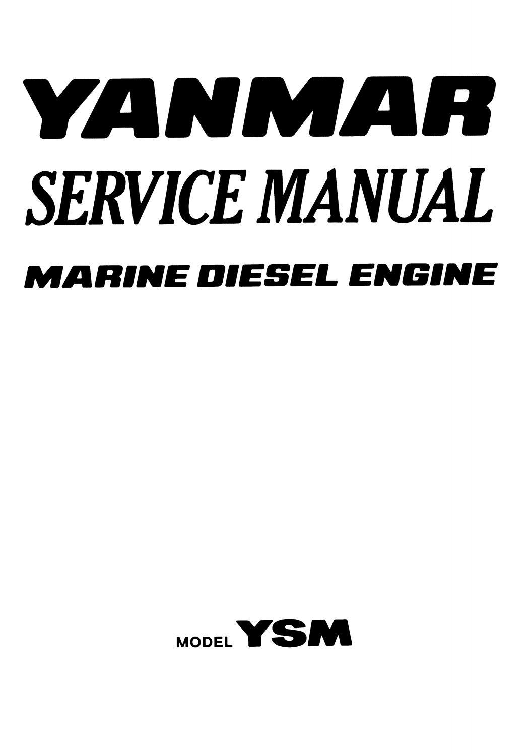 Yanmar YSM12-Y Marine Diesel Engine Service Repair Manual