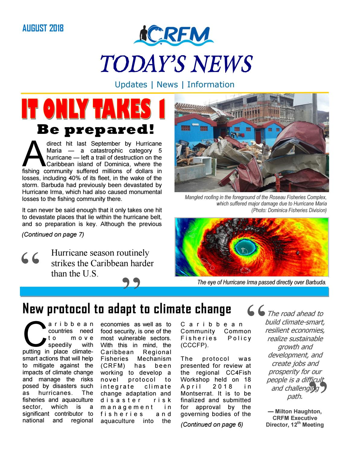 Caribbean Hurricane Belt : caribbean, hurricane, Today's, Caribbean, Regional, Fisheries, Mechanism, Issuu