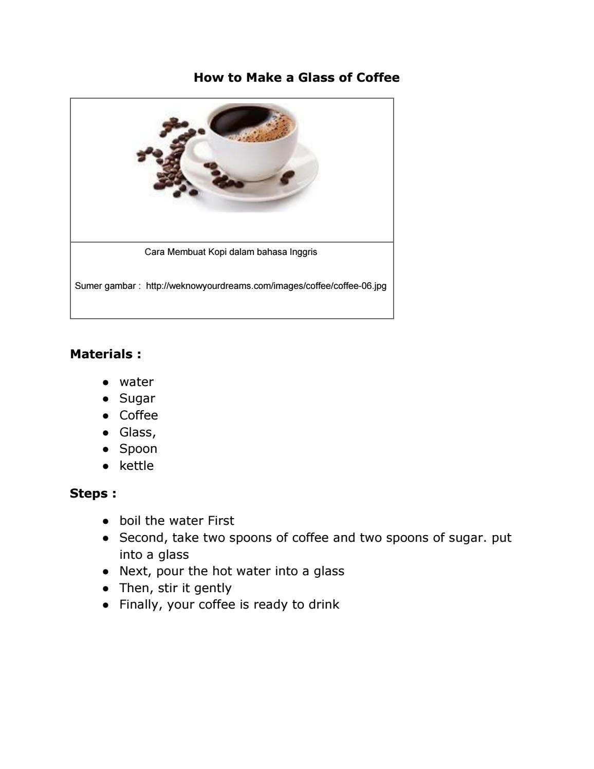 Bahasa Inggris Kopi : bahasa, inggris, Glass, Coffee, Williammorgy, Issuu