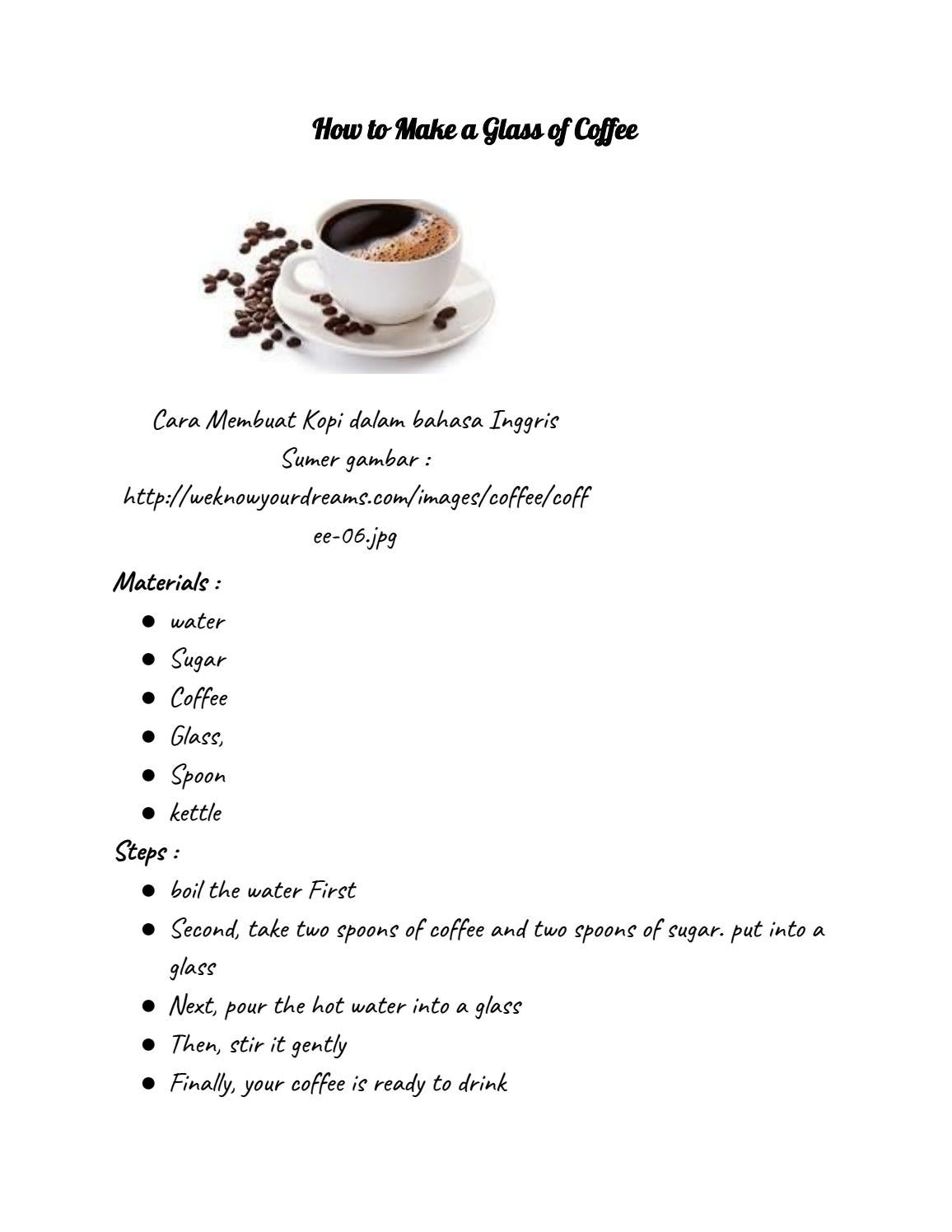 Kata Mutiara Bahasa Inggris tentang Kopi (Coffee) Beserta