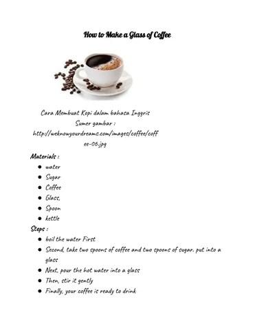 Bahasa Inggris Kopi : bahasa, inggris, Glass, Coffee, Portiadmcleod, Issuu