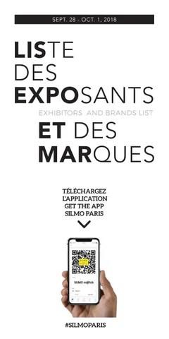 SILMO Paris 2018 : Listes des exposants et des marques