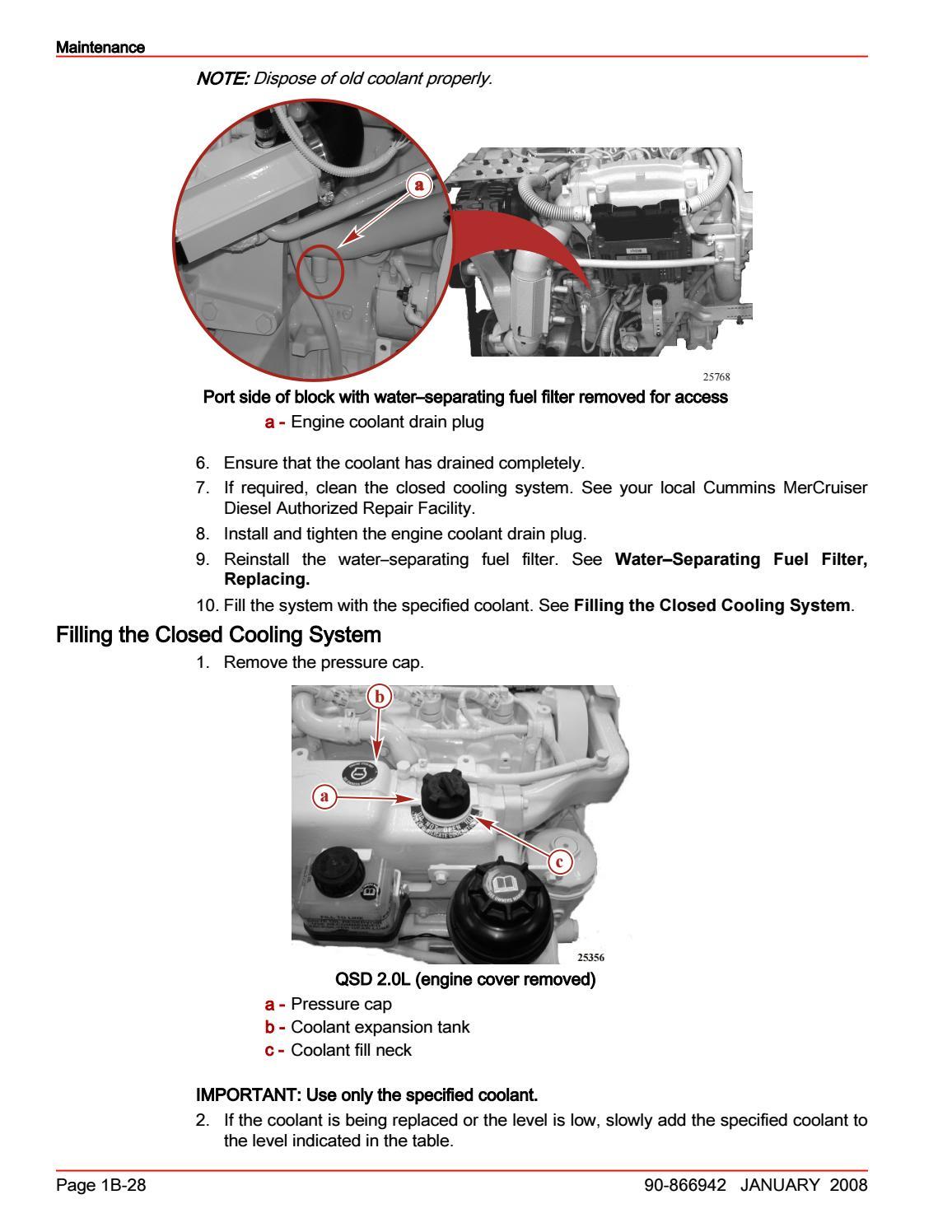 CUMMINS MERCRUISER QSD 2.0L DIESEL ENGINE Service Repair