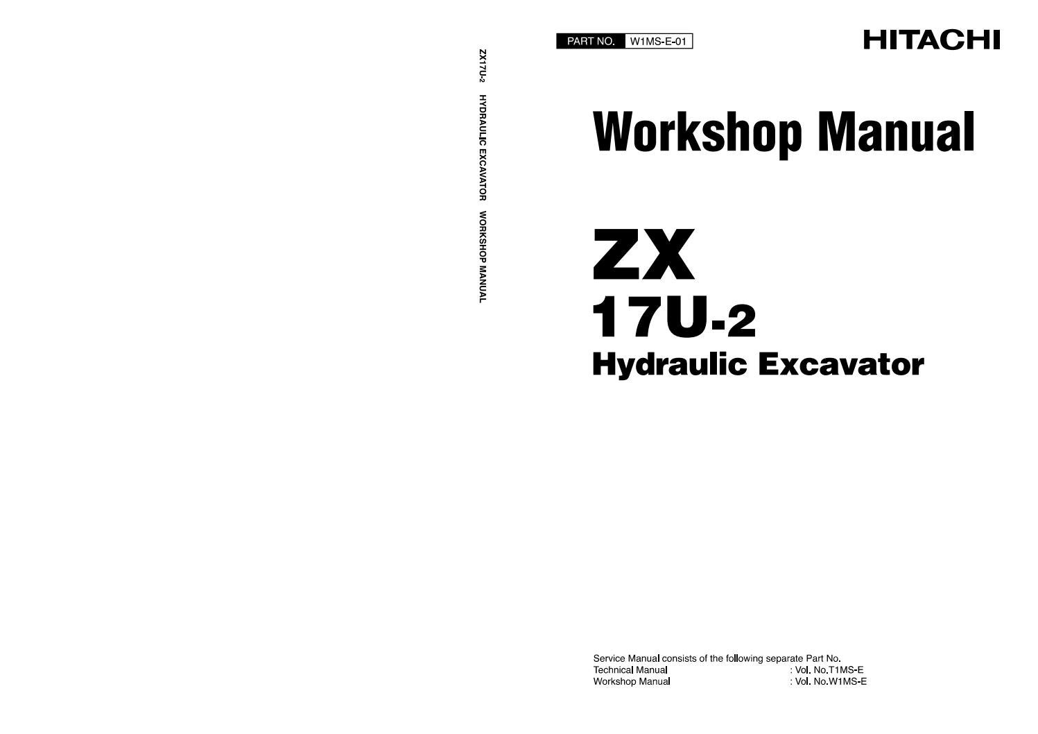 HITACHI ZAXIS ZX 17U-2 EXCAVATOR Service Repair Manual by