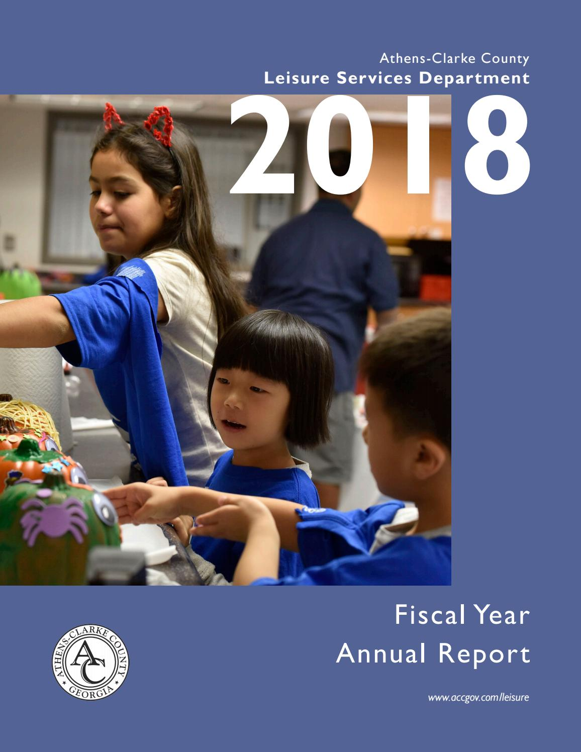 The 2018 Athens-Clarke County Leisure Services Department Annual Report by ACC Leisure Services - Issuu