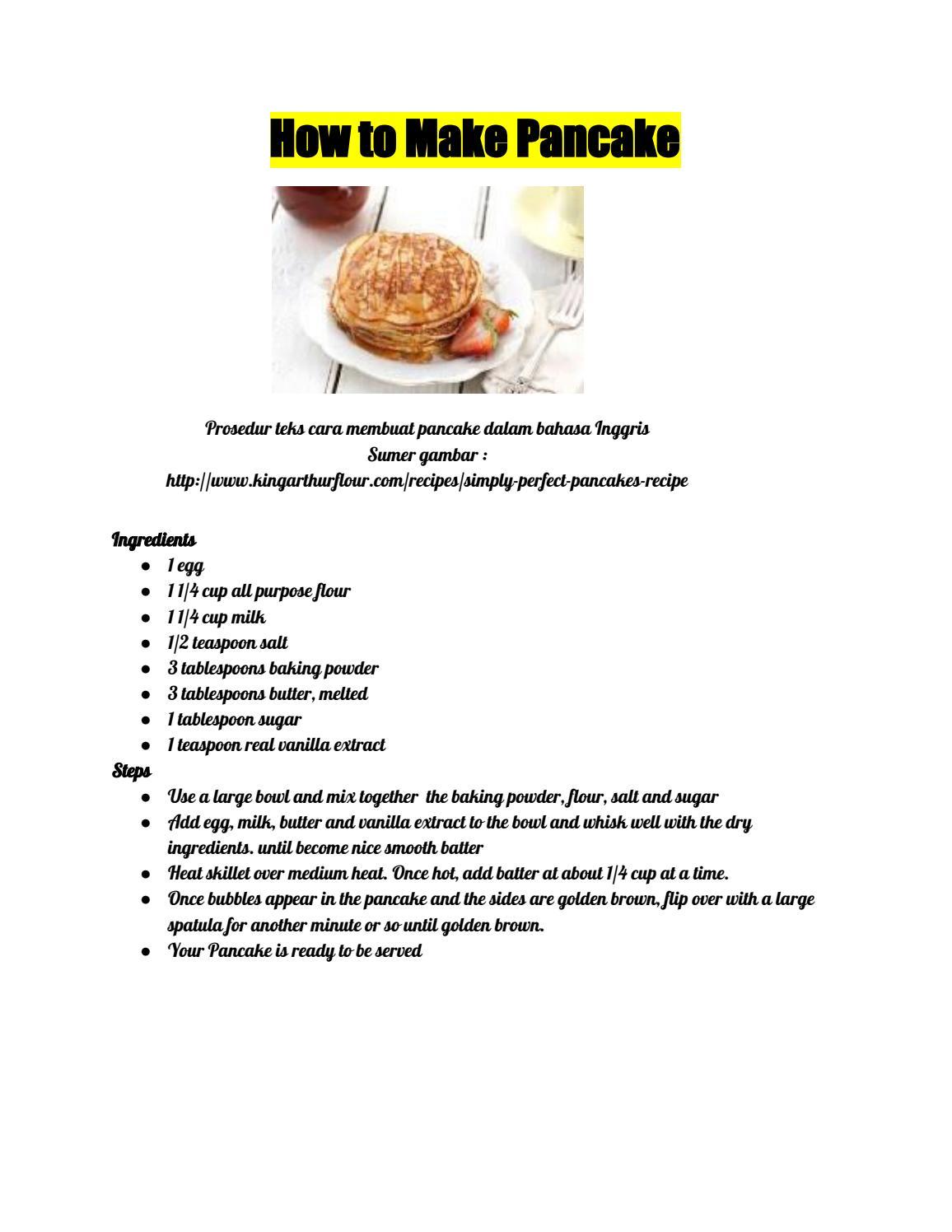 Contoh Procedure Text Makanan : contoh, procedure, makanan, Pancake, Procedure, Images, Collection