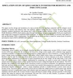 ijiert simulation study of qzsi z source inverter for resistive and inductive load [ 1156 x 1496 Pixel ]