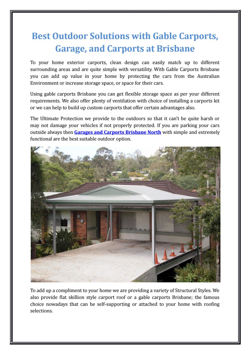 Best Outdoor Solutions With Gable Carports Garage And Carports
