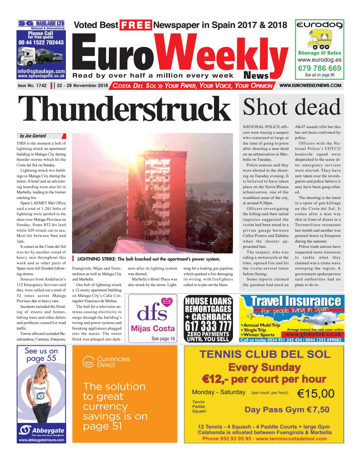 hight resolution of euro weekly news costa del sol 22 28 november 2018 issue 1742 by euro weekly news media s a issuu