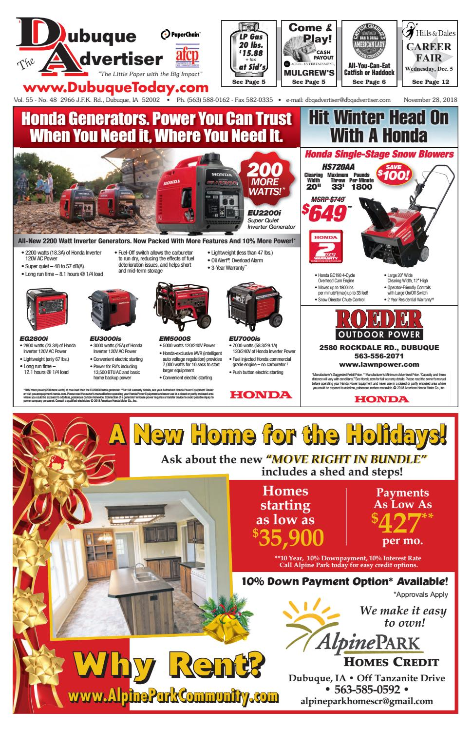 medium resolution of the dubuque advertiser november 28 2018 by the dubuque advertiser issuu
