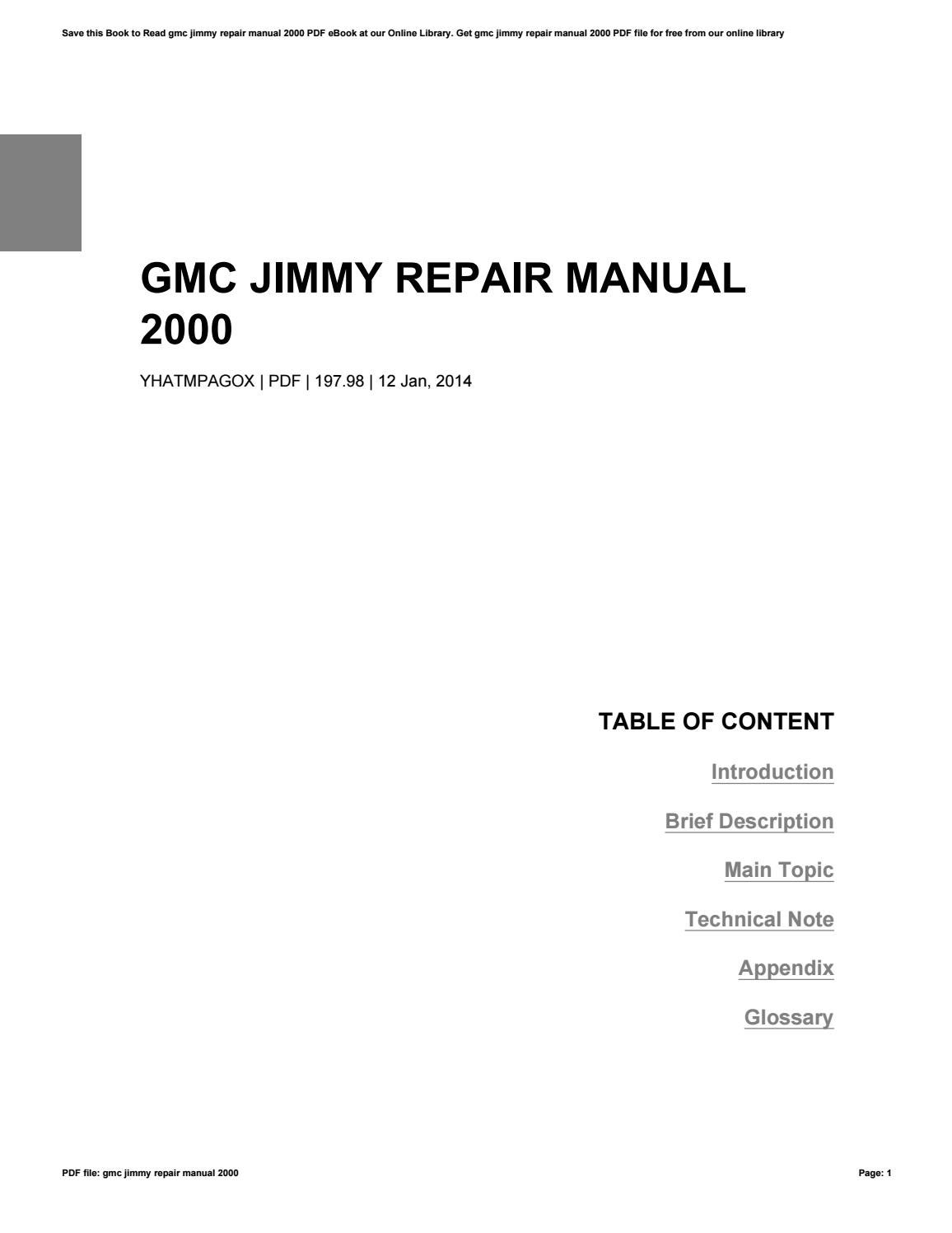Gmc Jimmy Manual 2000 Pdf : Chevrolet S 10 Wikipedia