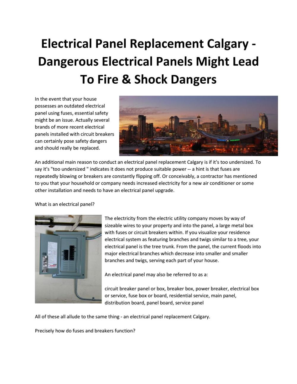 medium resolution of electrical panel replacement calgary dangerous electrical panels can cause fire shock risks