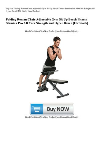 gym quality roman chair umbrella beach big sale folding adjustable sit up bench fitness stamina pro ab core strength and hy