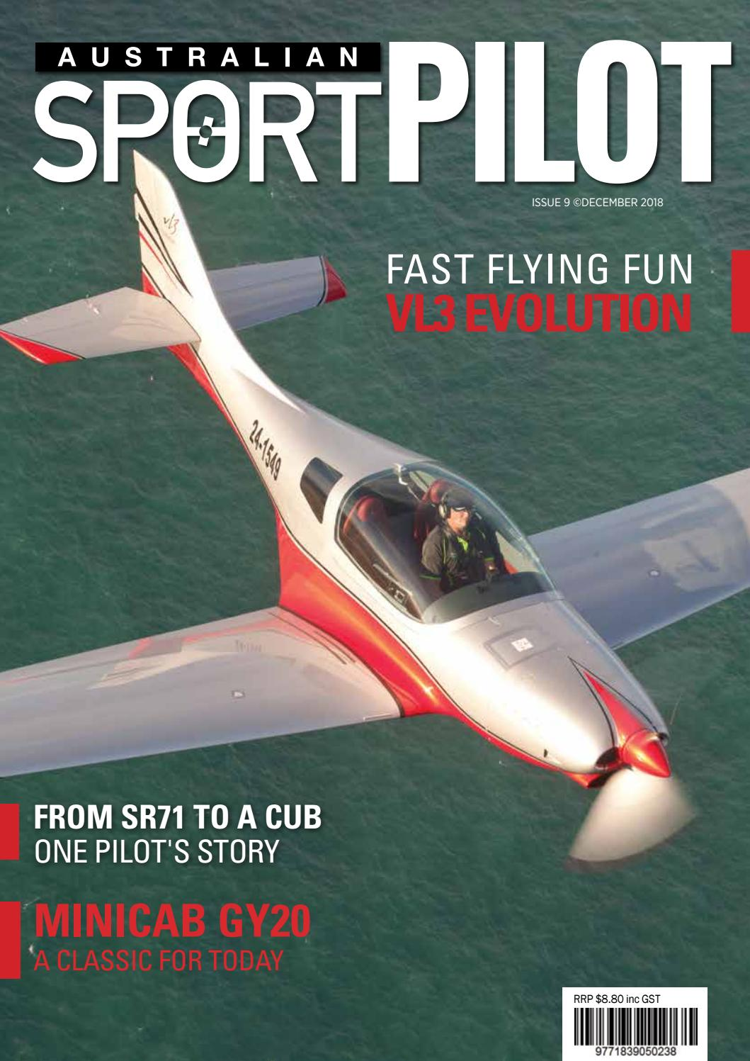 hight resolution of australian sport pilot dec 2018 by recreational aviation australia issuu