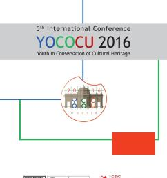 5th international conference yococu 2016 youth in conservation of cultural heritage [ 1161 x 1494 Pixel ]