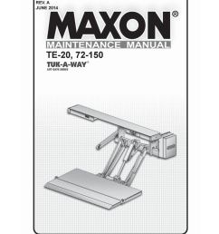 maxon 72 150 te 20 liftgate parts manual by the liftgate parts co issuu [ 1156 x 1496 Pixel ]