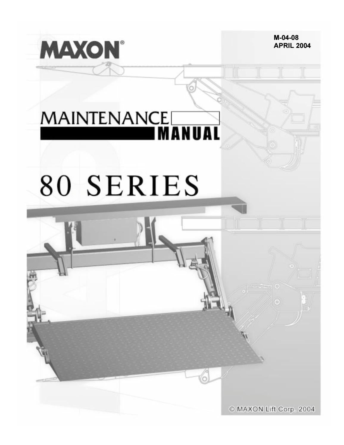 hight resolution of maxon 80 series tuckaway liftgate parts manual by the liftgate parts co issuu