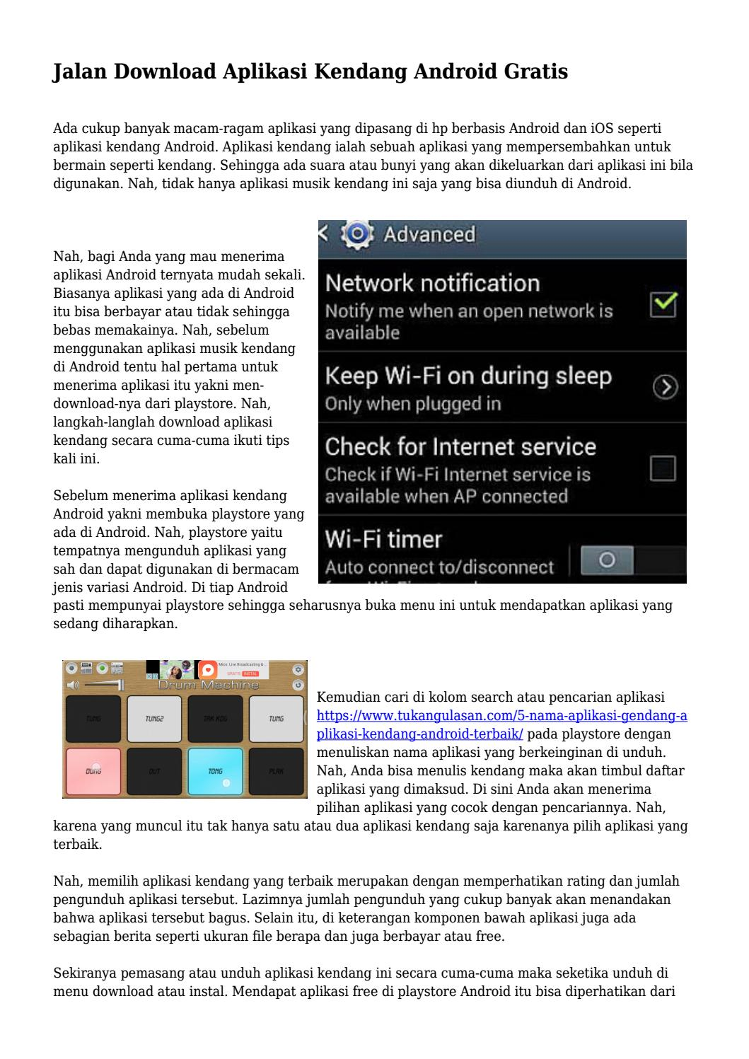 Download Aplikasi Kendang : download, aplikasi, kendang, Jalan, Download, Aplikasi, Kendang, Android, Gratis, Topteknobaru, Issuu