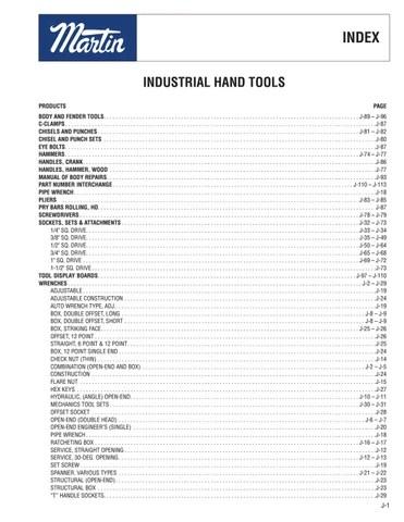 Martin Tool Catalog by Ram Tool Construction Supply Co