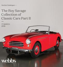 the roy savage collection of classic cars part ii by webb s auction house issuu [ 1493 x 1493 Pixel ]