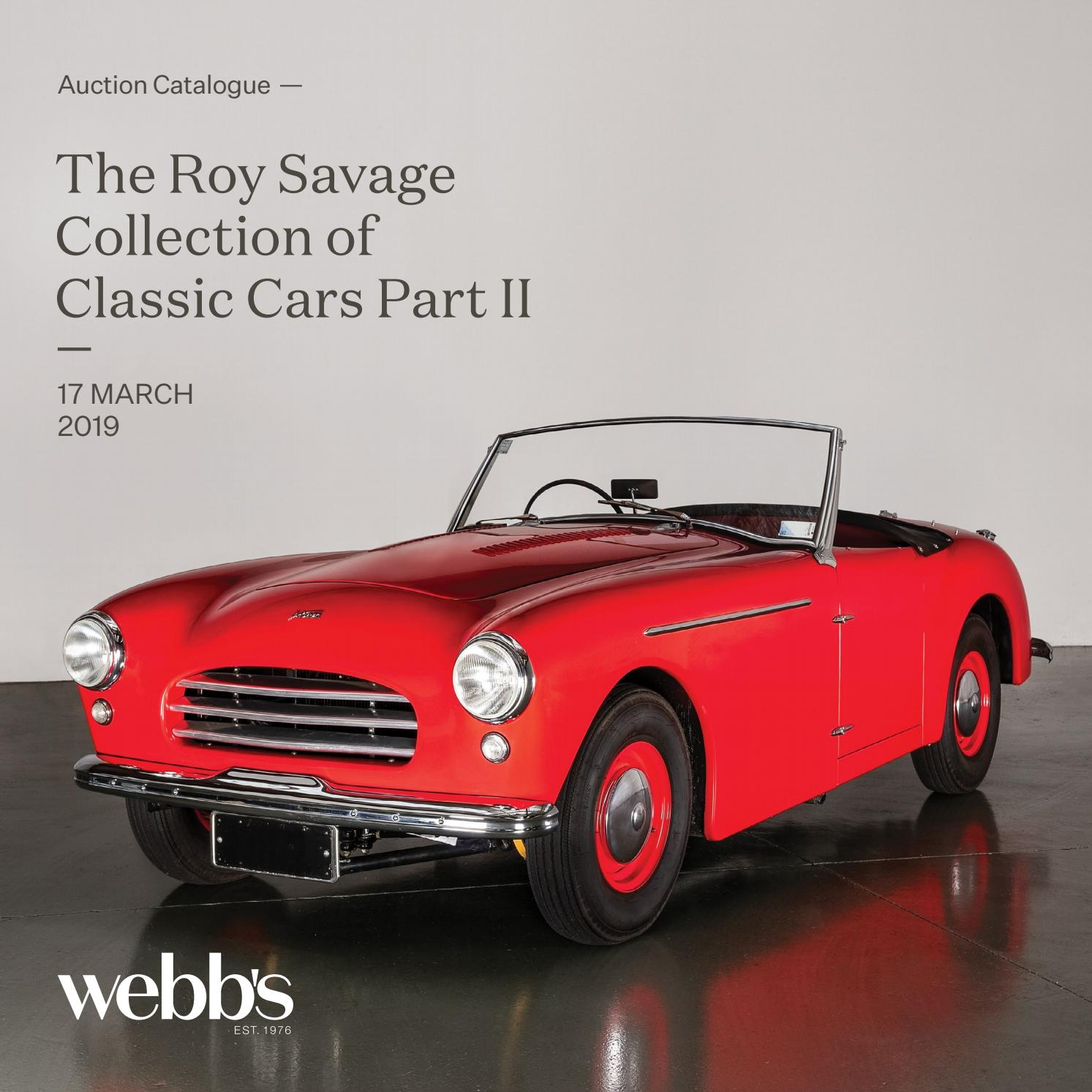hight resolution of the roy savage collection of classic cars part ii by webb s auction house issuu