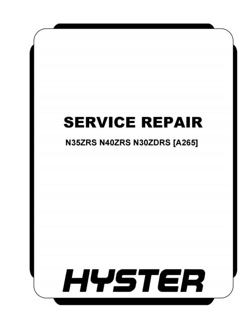 small resolution of hyster a265 n40zrs forklift service repair manual