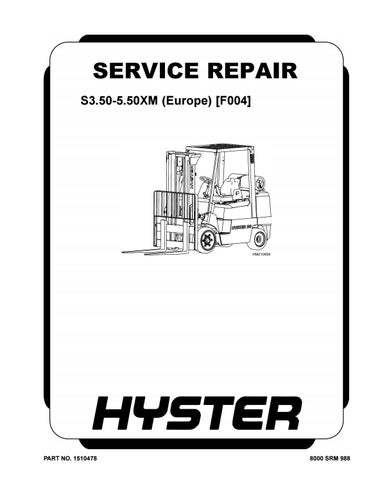 Hyster F004 (S5.50XM Europe) Forklift Service Repair