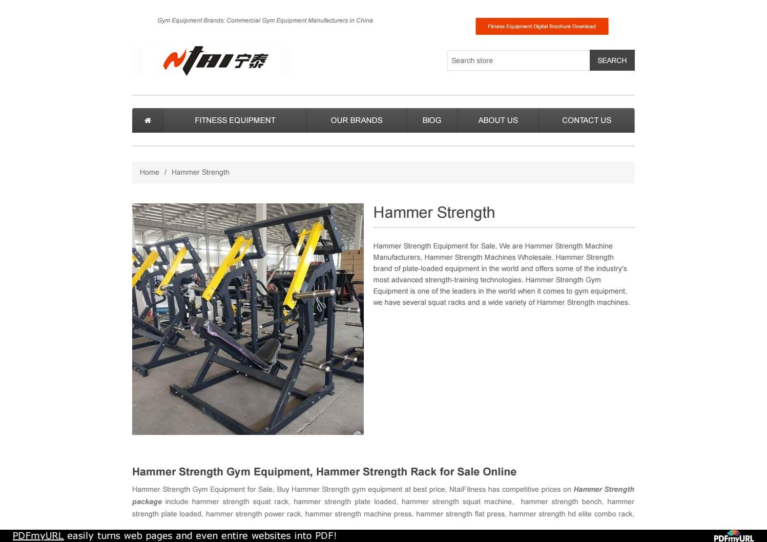 buy hammer strength gym equipment by