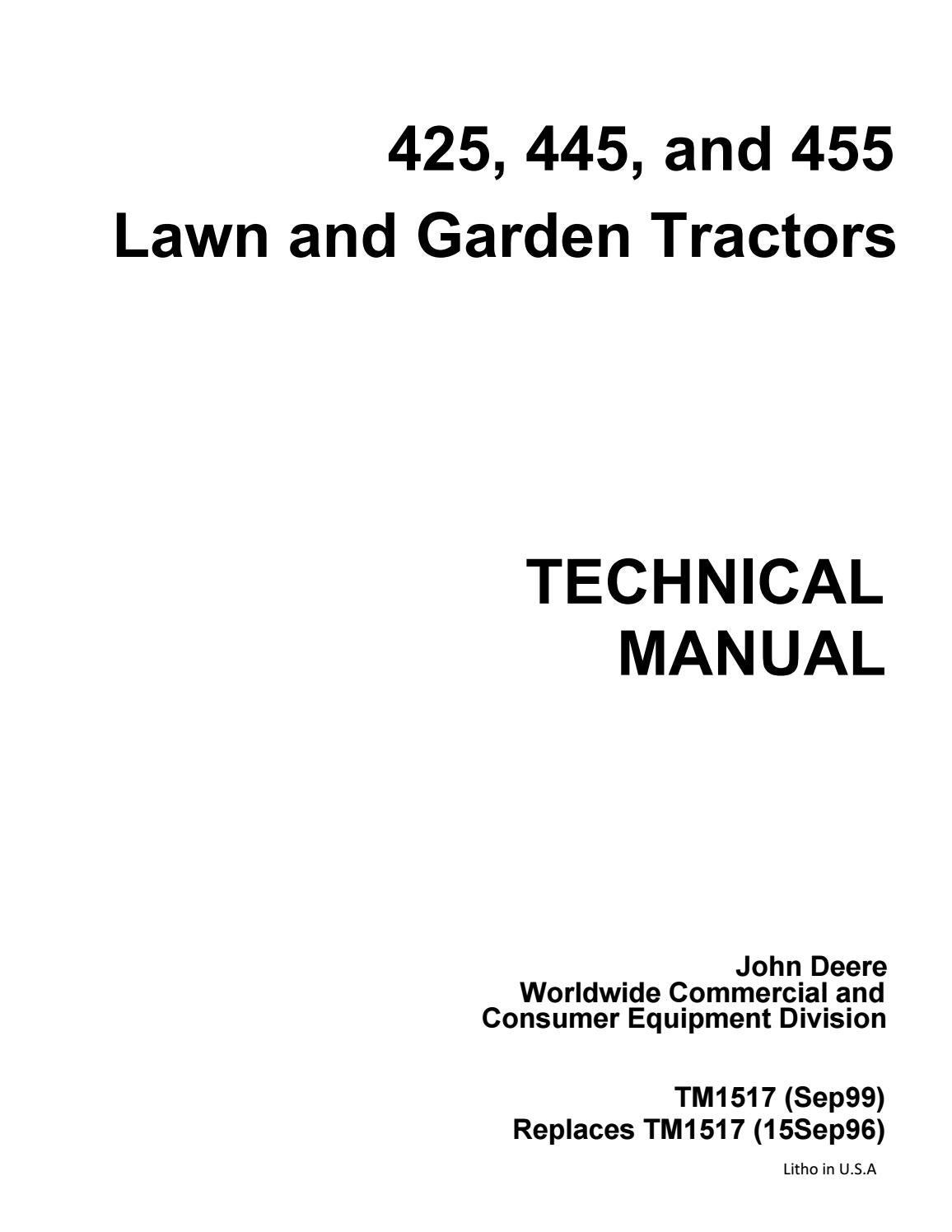 John Deere 455 Parts Diagram : deere, parts, diagram, DEERE, GARDEN, TRACTOR, Service, Repair, Manual, 163114103, Issuu