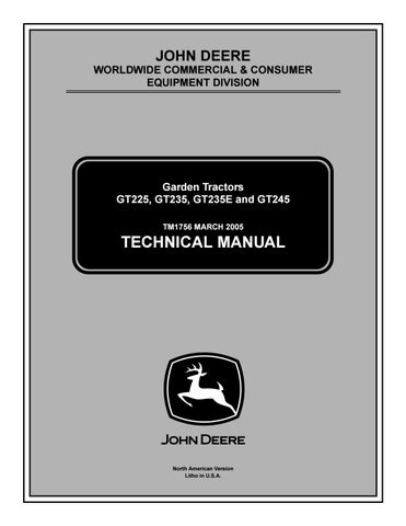 John Deere Gt245 Parts : deere, gt245, parts, DEERE, GT245, GARDEN, TRACTOR, Service, Repair, Manual, 163114103, Issuu