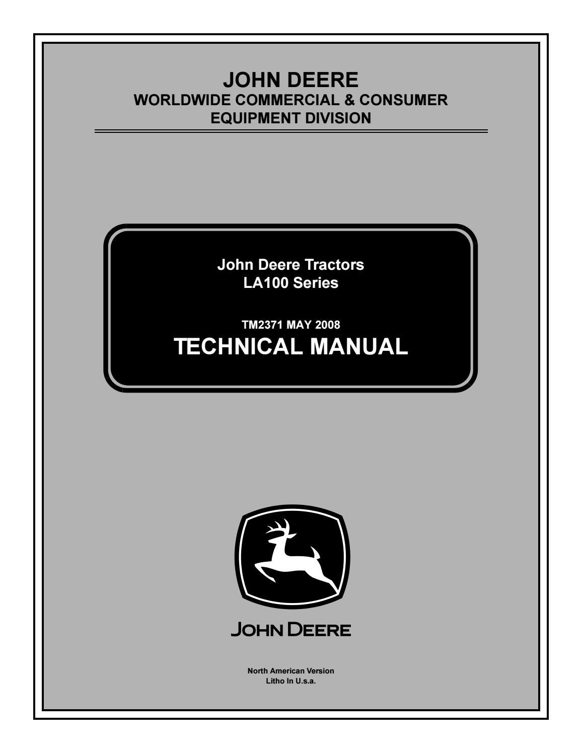 JOHN DEERE LA140 LAWN TRACTOR Service Repair Manual by