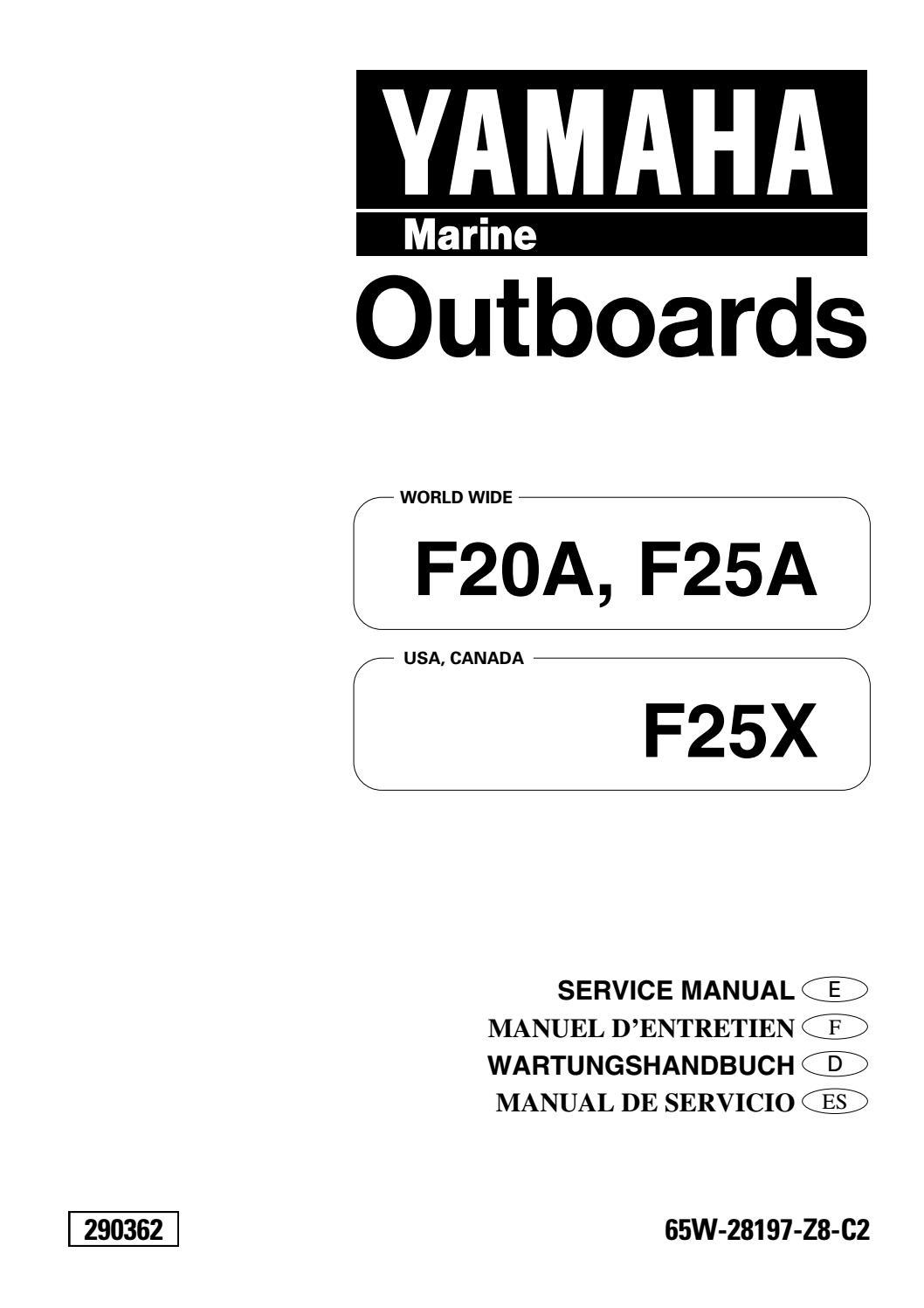 YAMAHA F25AEHT, F25TH OUTBOARD Service Repair Manual L