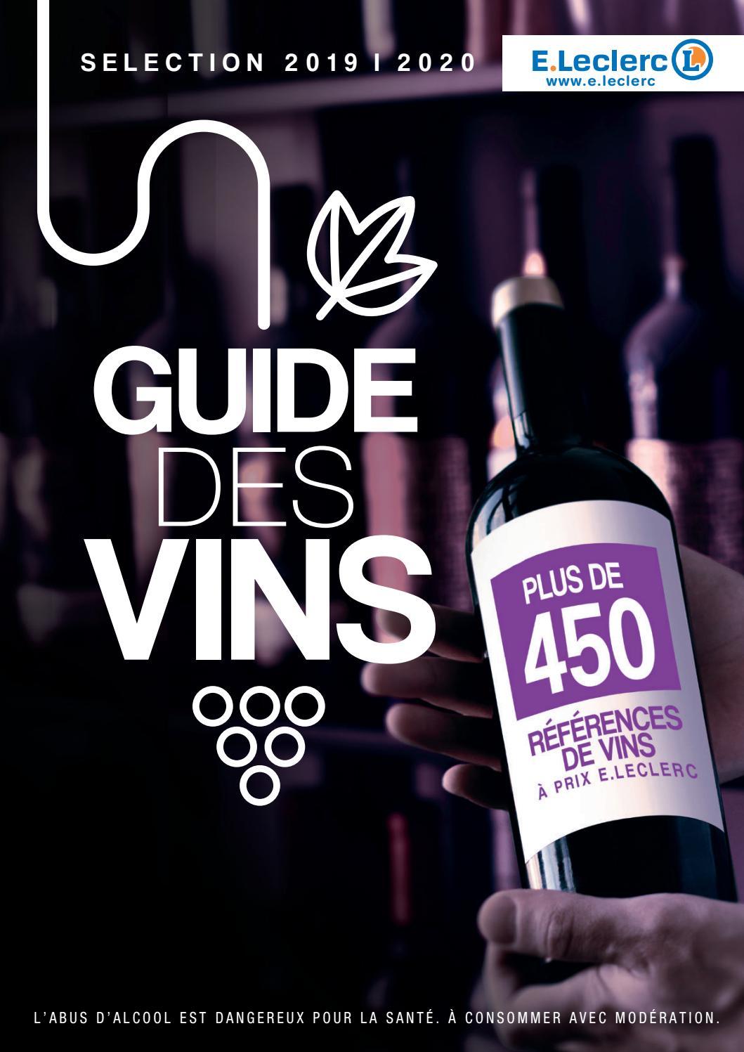 catalogue e leclerc guide des vins