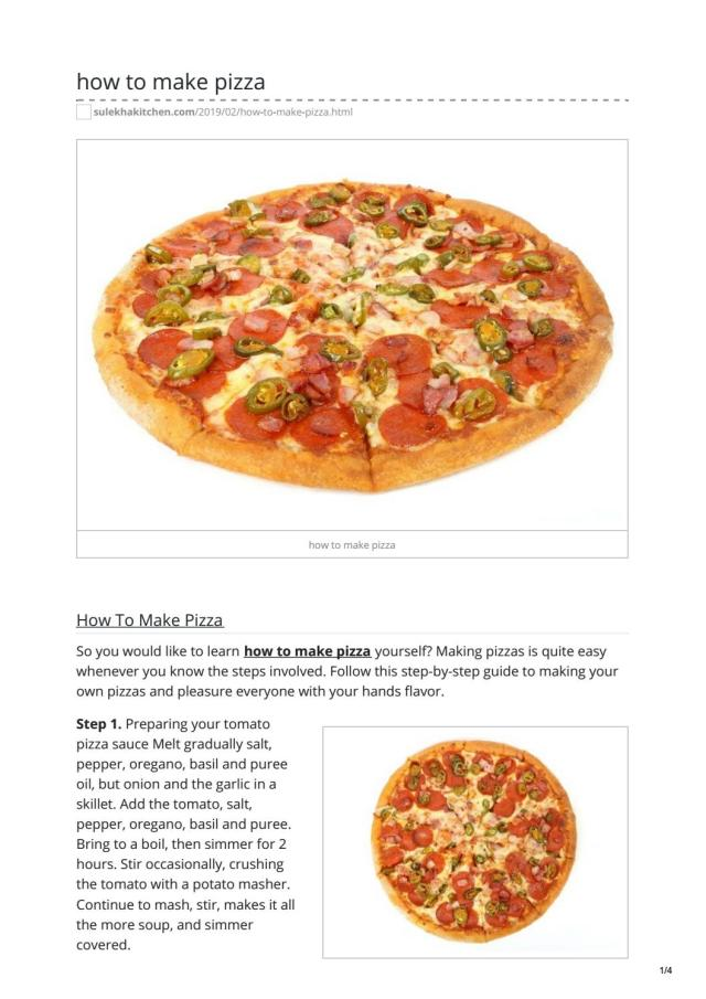how to make pizza by Mi Customer care - issuu