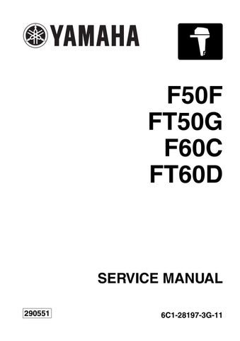 YAMAHA OUTBOARD F50FET Service Repair Manual SN1000001 by