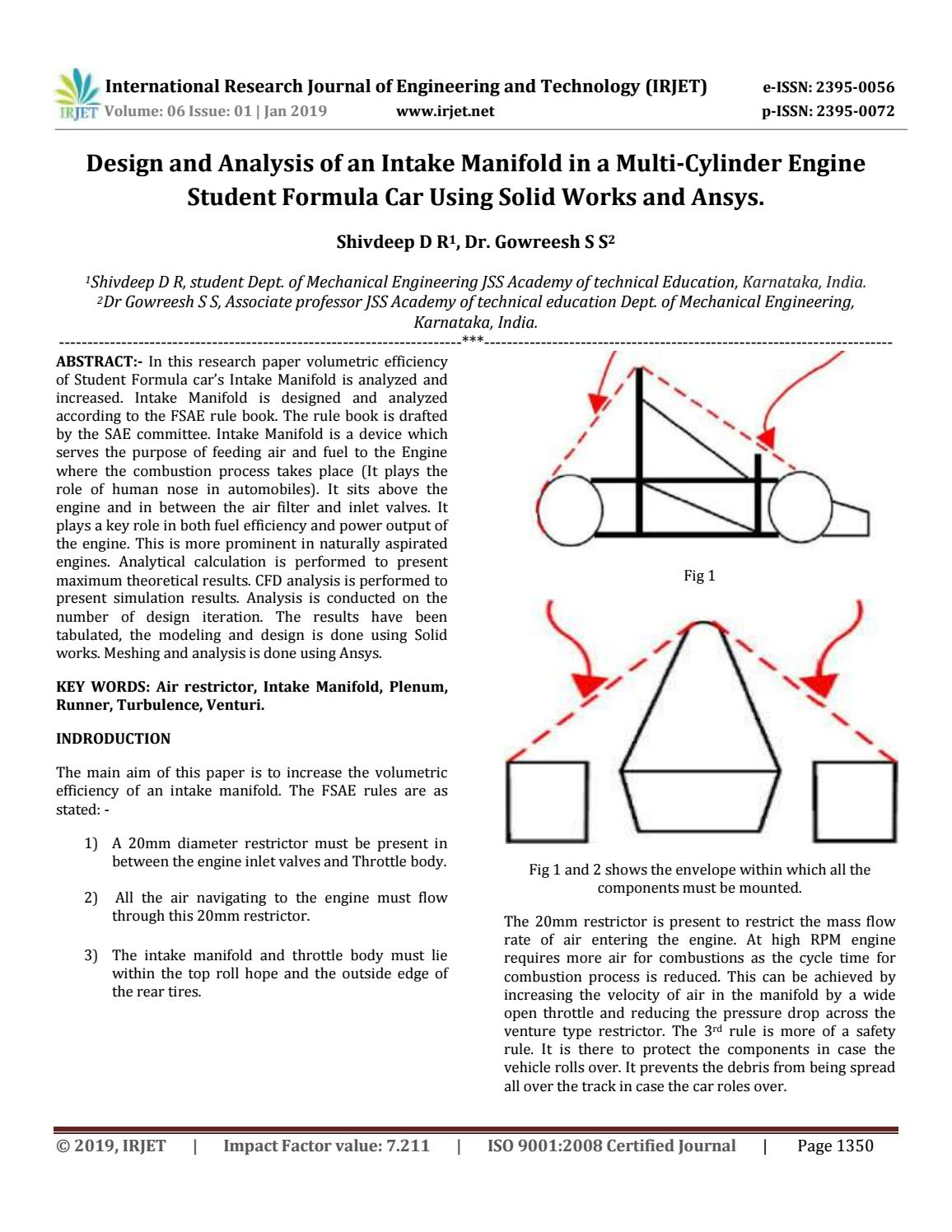 hight resolution of irjet design and analysis of an intake manifold in a multi cylinder engine student formula car usin by irjet journal issuu