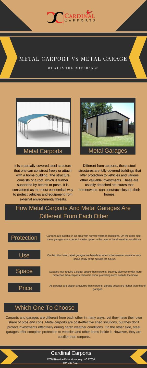 Metal Carport Vs Metal Garage What Is The Difference By