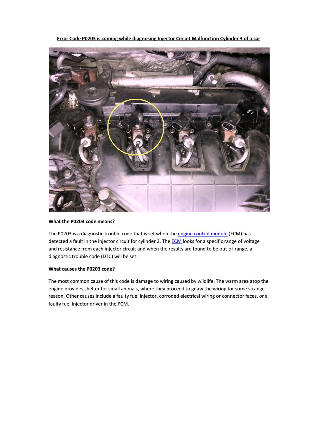 hight resolution of partsavatar car spare parts toronto error code p0203 is coming while diagnosing