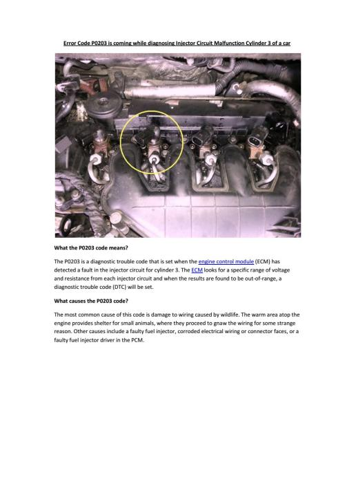 small resolution of partsavatar car spare parts toronto error code p0203 is coming while diagnosing