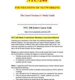 ntc 248 week 3 individual wireless local area network uopstudy com by uopx002 issuu [ 1058 x 1497 Pixel ]